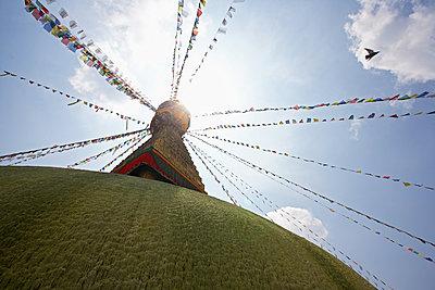 the famous Boudhanath stupa in Kathmandu - p1166m2179546 by Cavan Images