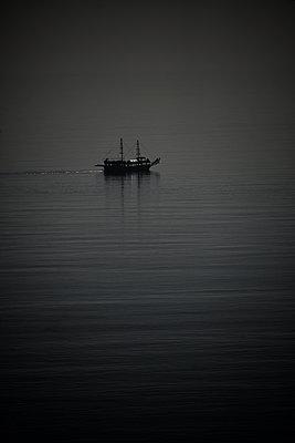 Sailing ship at twilight - p1695m2290927 by Dusica Paripovic