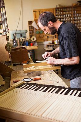 Harpsichord - p1371m1467479 by virginie perocheau