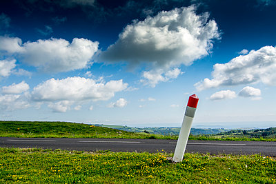 Road pole at the roadside - p813m1159508 by B.Jaubert