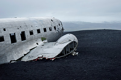 Planewreck on lava soil in Iceland - p947m1586607 by Cristopher Civitillo