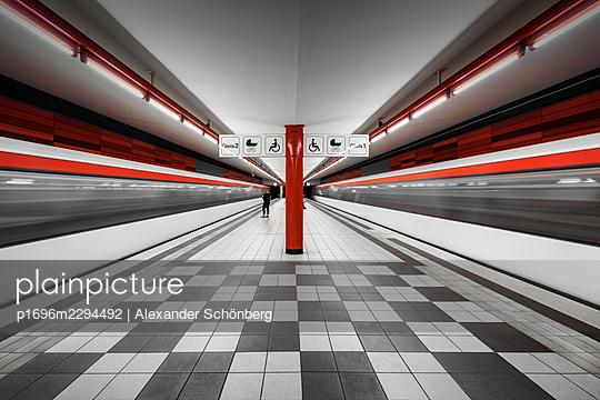 Subway in Hamburg - p1696m2294492 by Alexander Schönberg