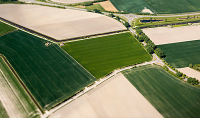 Different fields, aerial view - p1132m2185384 by Mischa Keijser