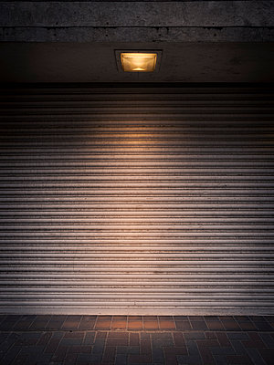 Roll-up door with lighting - p1280m2263565 by Dave Wall