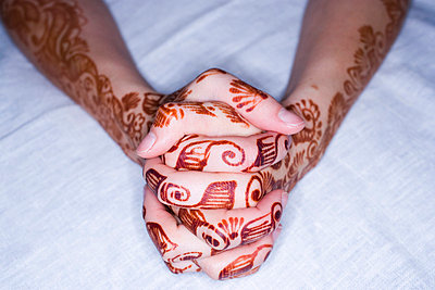 Hand with henna - p4264140f by Tuomas Marttila