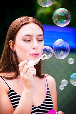 Soap bubbles - p1149m1590494 by Yvonne Röder