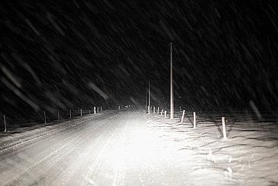 View of snow on road - p300m660015f by Martin Siepmann
