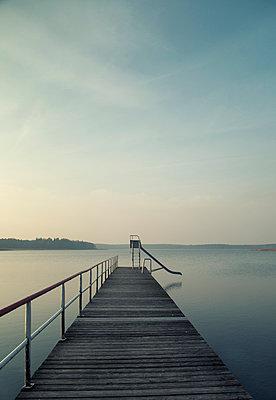 Pier, Baltic Sea - p992m1017324 by Carmen Spitznagel