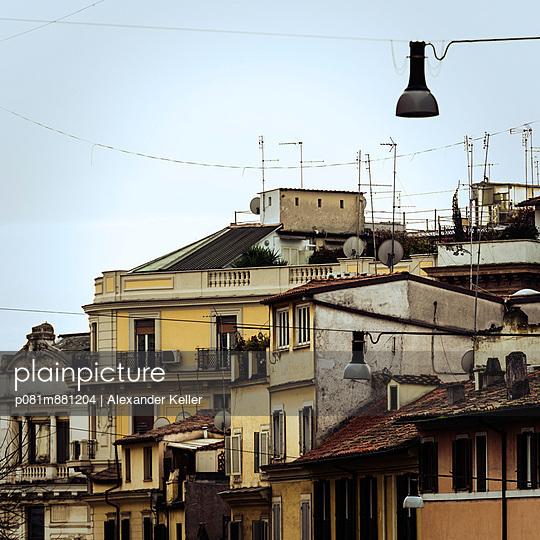 Häuser in Rom - p081m881204 von Alexander Keller