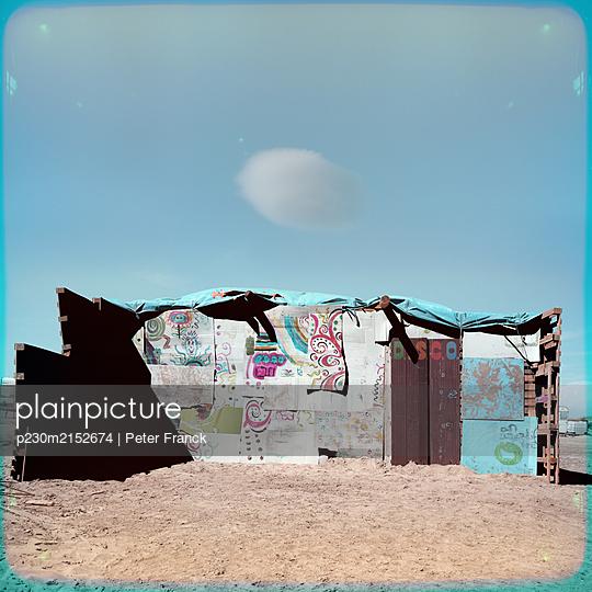 France, Beach Piemanson, Cabin on the beach - p230m2152674 by Peter Franck