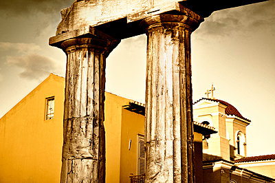 Church and columns - p1445m2125672 by Eugenia Kyriakopoulou