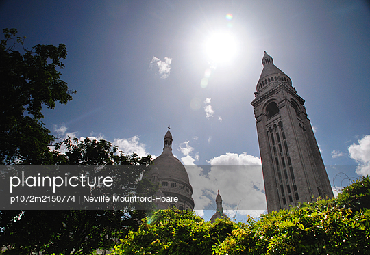 Sacre Coeur towers - p1072m2150774 by Neville Mountford-Hoare