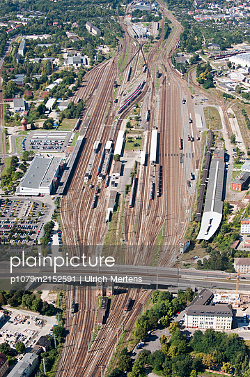 Germayn, Cottbus, Central station from above - p1079m2152591 by Ulrich Mertens