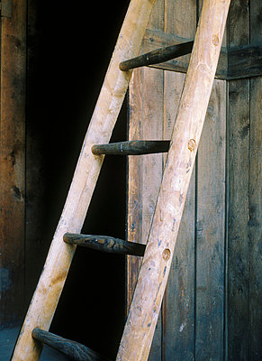 Holzleiter - p2370180 von Thordis Rüggeberg