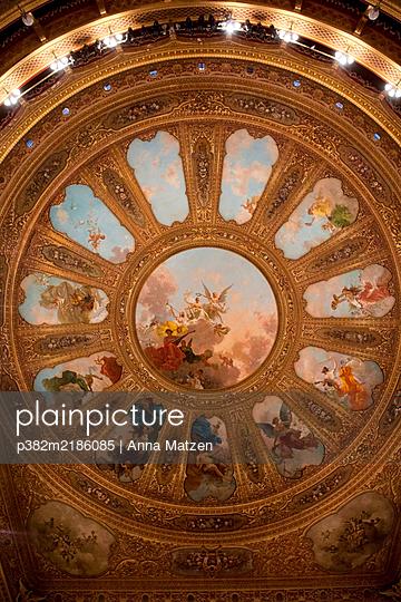 Dome of the Teatro Massimo in Palermo - p382m2186085 by Anna Matzen