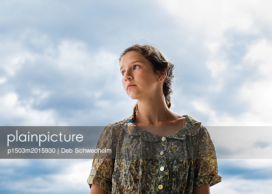 Girl in the Clouds - p1503m2015930 by Deb Schwedhelm