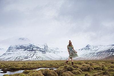 Girl Dancing in Iceland - p1503m2015965 by Deb Schwedhelm