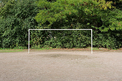 Football goal - p92410134f by Image Source