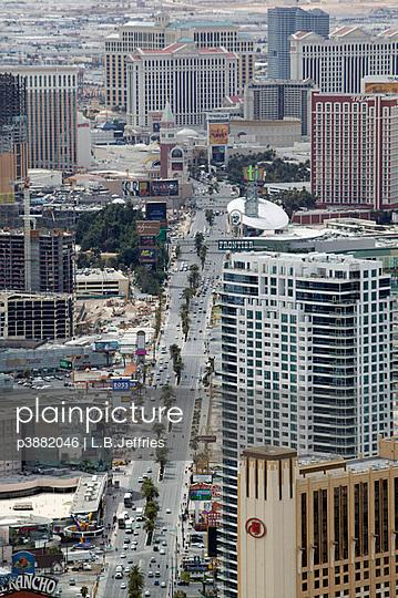Aerial view of Las Vegas - p3882046 by L.B.Jeffries