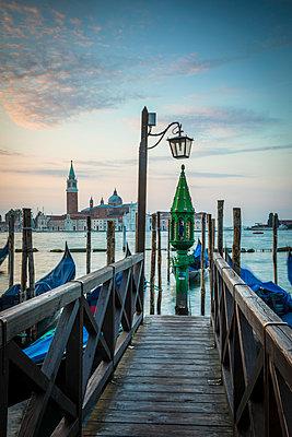 Chiesa di San Giorgio Maggiore & St. Mark's Square (Piazza San Marco) Venice, Italy - p651m2007419 by Jon Arnold