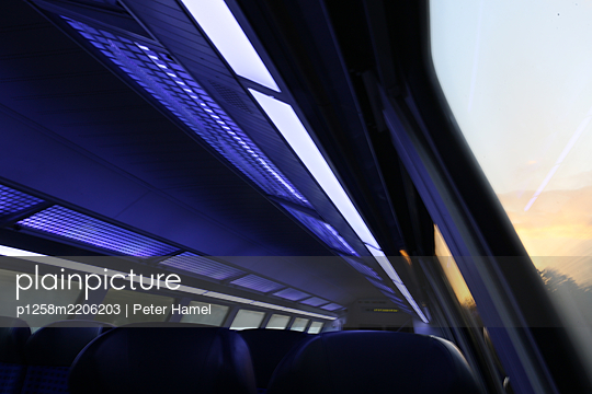 Riding the train - p1258m2206203 by Peter Hamel