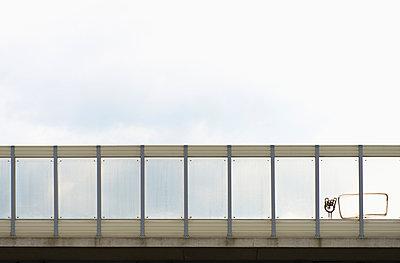 Germany, Duisburg, motorway bridge with graffiti - p300m1052835f by visual2020vision