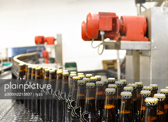 Germany, Bottling system in brewery - p300m2213837 by lyzs