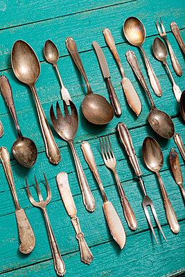 Silver cutlery - p451m984157 by Anja Weber-Decker