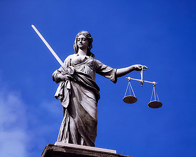 Statue Of Justice, Dublin Castle, Dublin City, Ireland - p4428987 by The Irish Image Collection