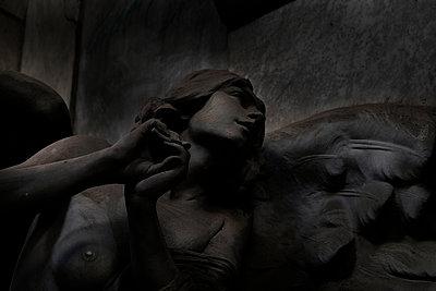 Sculpture at Monumental Cemetery of Staglieno - p1105m1222746 by Virginie Plauchut