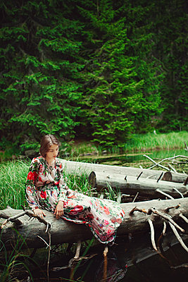 Girl by a lake - p1432m2273300 by Svetlana Bekyarova