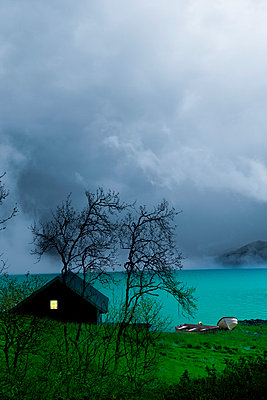 Fishing hut in Norway - p2481169 by BY