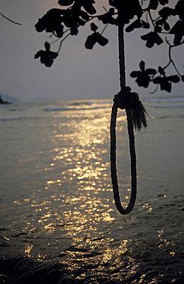 Rope on the beach - p2360719 by tranquillium