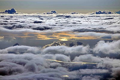 North Sea, Eider river and cloud formations - p1016m1590867 by Jochen Knobloch