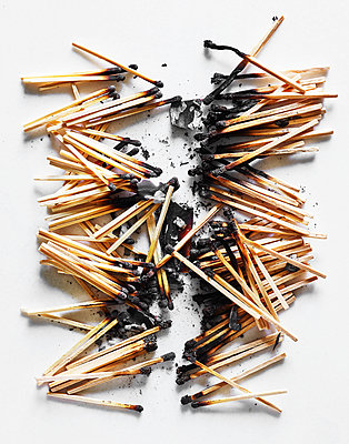 Burnt matches - p1397m2054805 by David Prince