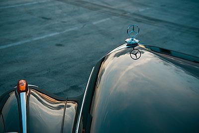 Mercedes Benz Ponton, engine hood, star - p1437m2254418 by Achim Bunz
