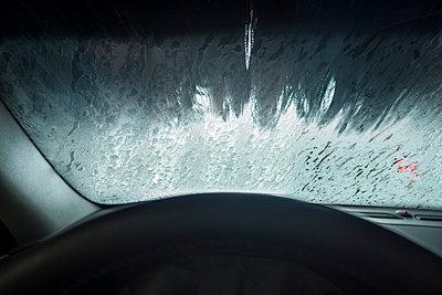 Car Wash Seen From The Inside Of The Car   - p847m988470 by Jan Håkan Dahlström