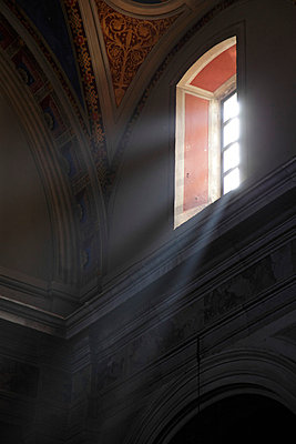 Window in a church in Italy - p1990528 by Oliver Jäckel