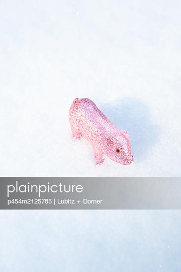 Glück im Winter - p454m2125785 von Lubitz + Dorner