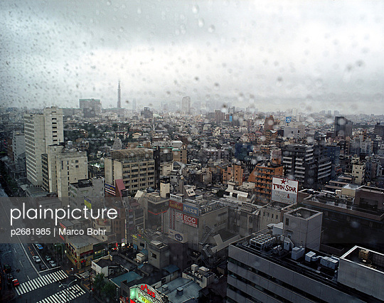 Rain in Tokyo - p2681985 by Marco Bohr