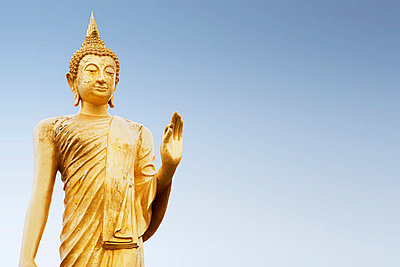 Standing buddha figure in thailand - p9246987f by Image Source