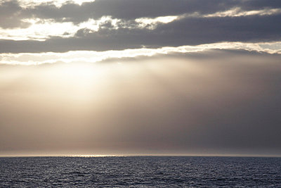 Sunset Over Ocean - p694m663773 by Maria K