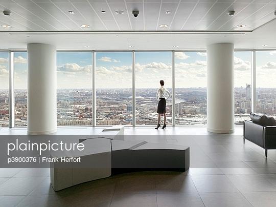 Blick über Moskau - p3900376 von Frank Herfort