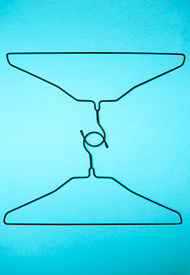 Two clothes hangers - p971m1048201 by Reilika Landen