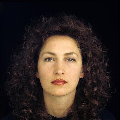 Portrait on black - p1121m1007775 by Gail Symes