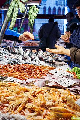 Fish market in Venice - p1312m1575203 by Axel Killian