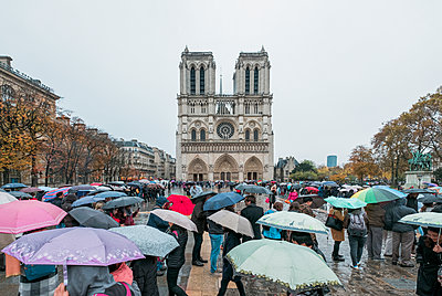 Cathedral Notre Dame in Paris - p1437m2161022 by Achim Bunz