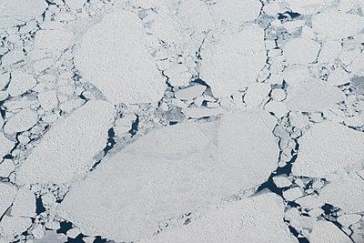 Broken ice shelf, aerial view, Canada - p1624m2223712 by Gabriela Torres Ruiz