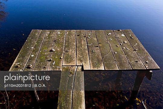 Kleiner Steg am See - p110m2031812 von B.O.A.