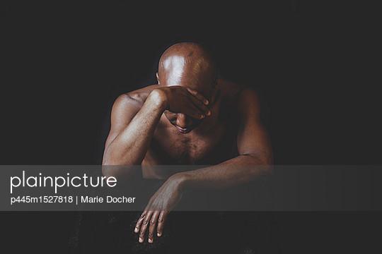 Portrait of a bald man - p445m1527818 by Marie Docher
